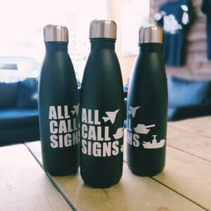 All Call Signs branded reusable drinks bottle